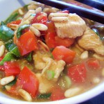 Citrus Chicken Stir-Fry with Peppers Pine Nuts