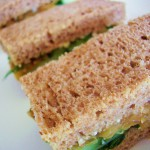 Cucumber and Caramelized Onion Tea Sandwiches
