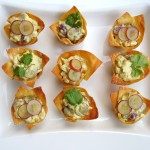 Curry Chicken Breast Salad in Wonton Cups