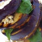Grilled Eggplant Stack with Feta and Fresh Basil