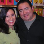 Jackie with Emeril Lagasse at taping of Emeril Green