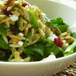 Orzo with Greens, Feta and Cranberries