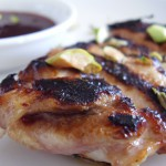 Pistachio-Plum Glazed Chicken