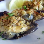 Roasted Artichoke-Stuffed Mussels