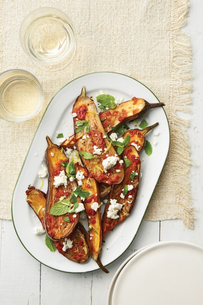 Roasted Greek Eggplant with Feta
