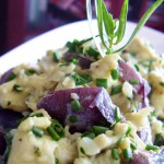 Soft Scrambled Eggs with Purple Potato and Chives
