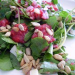 Sunflower Raspberry Watercress Salad