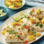 Thai-Style Halibut with Mango Relish
