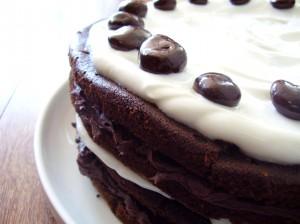 dark chocolate black forest torte