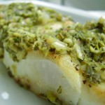 Cilantro-Mint Chutney Seared Halibut
