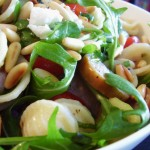 Orecchiette and Arugula Salad with Sausage