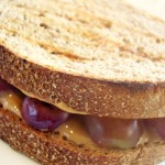 Peanut Butter & Grilled Grape Toastie