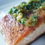 Salmon with Ginger-Scallion Chutney