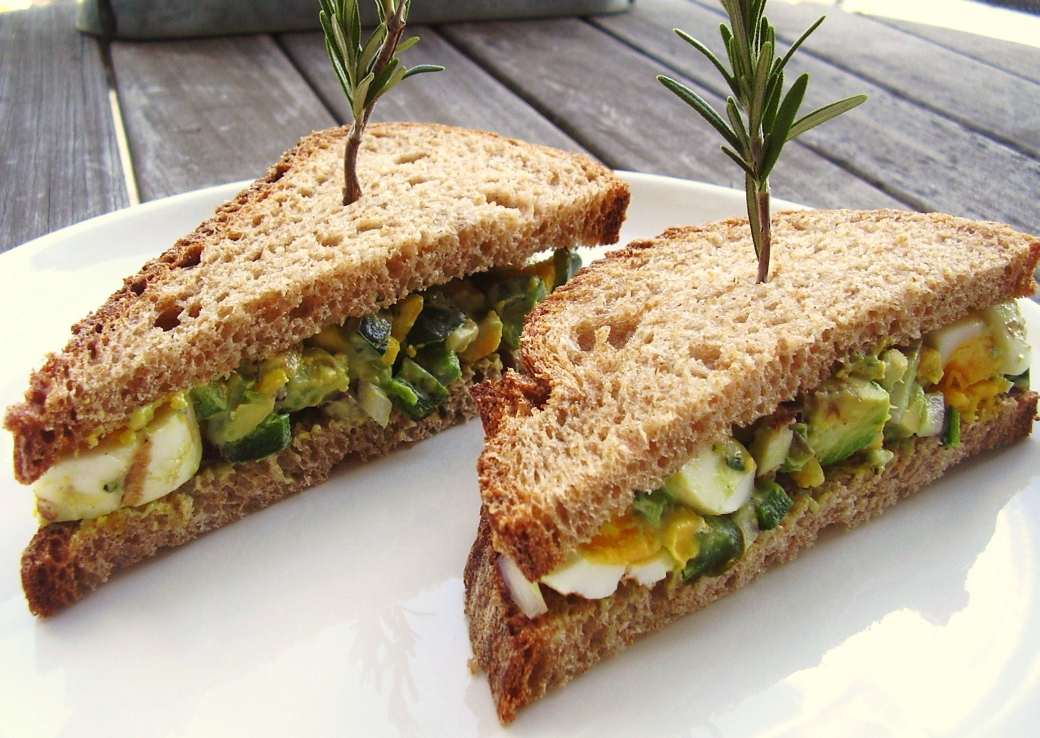 grilled avocado-poblano egg salad sandwich with rosemary | Jackie ...