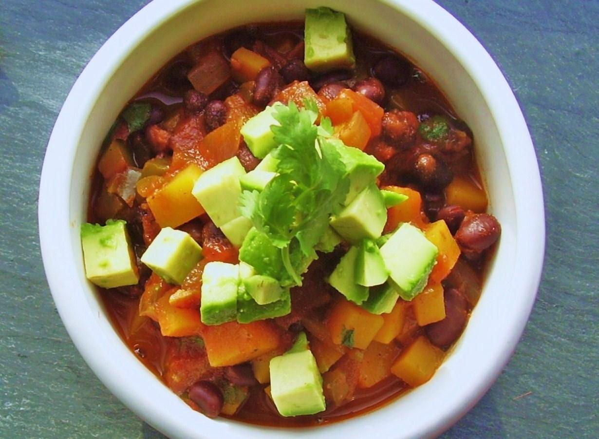 black bean and butternut squash chili | Jackie Newgent