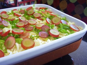 mexican-inspired seven layer dip