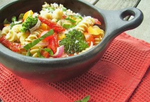 party veggie pasta salad