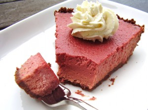 natural red velvet cheesecake