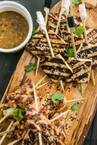 pan-grilled tofu skewers (photo: American Diabetes Association)