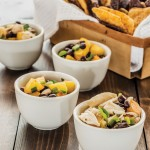 peach and black bean salsa with chips (photo: American Diabetes Association)