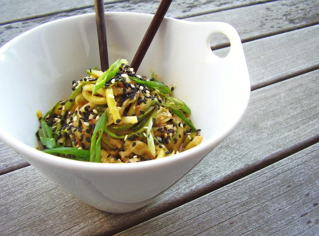 cold peanut-sesame zucchini noodles | Jackie Newgent