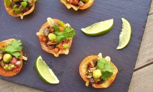 grilled vegetable taco cups