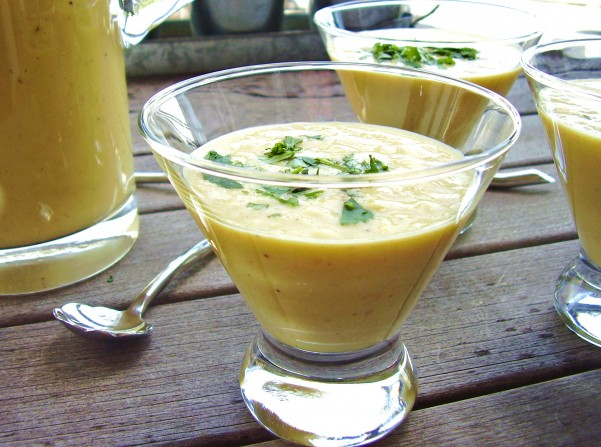 chilled grilled corn soup