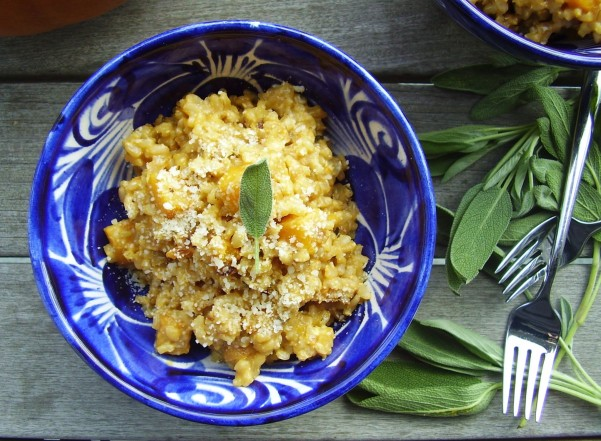 seasonal pumpkin and sage risotto