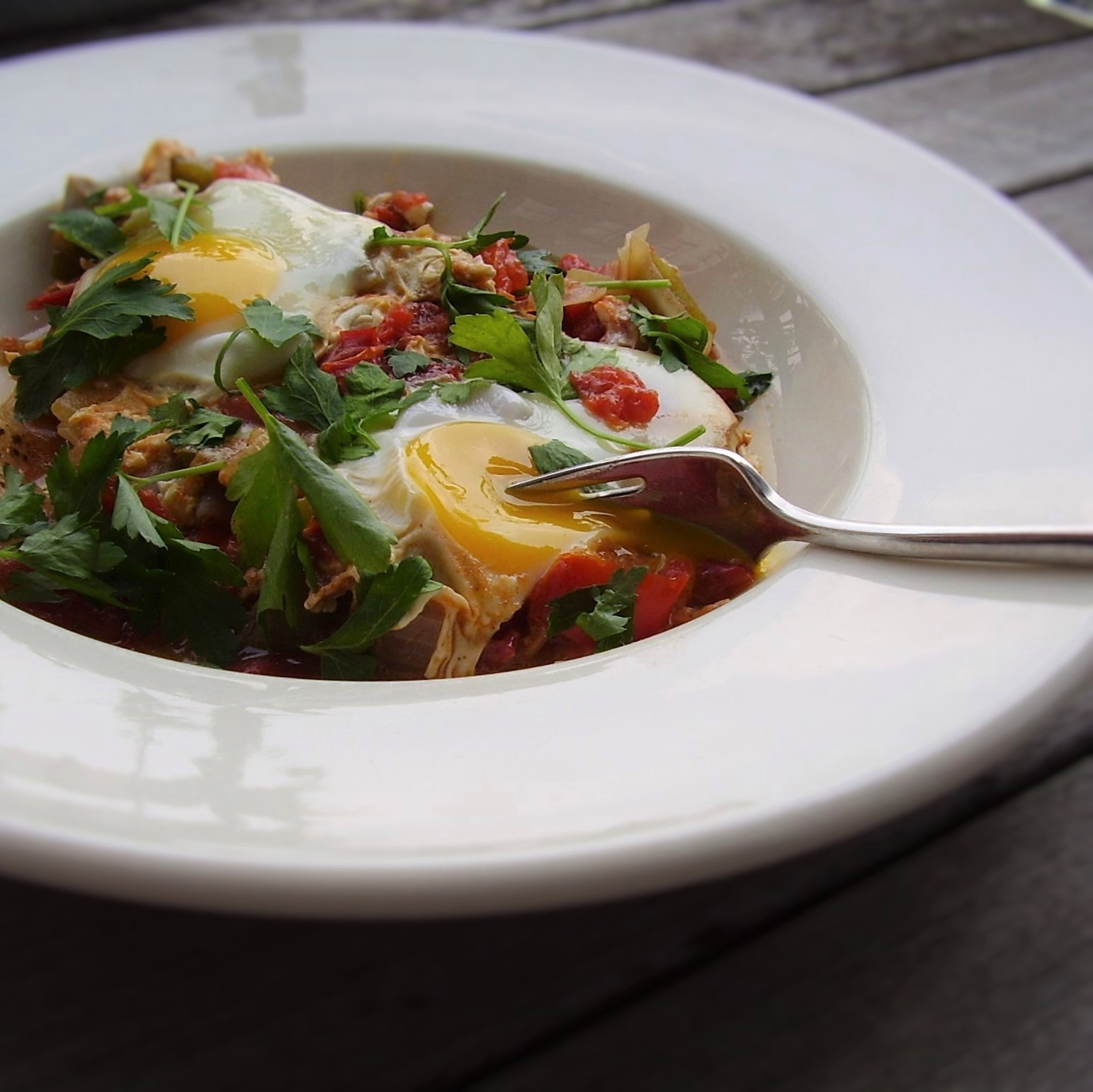 seasonal tomato shakshuka