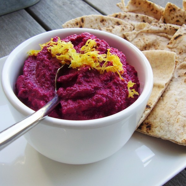 red beet baba ghanoush