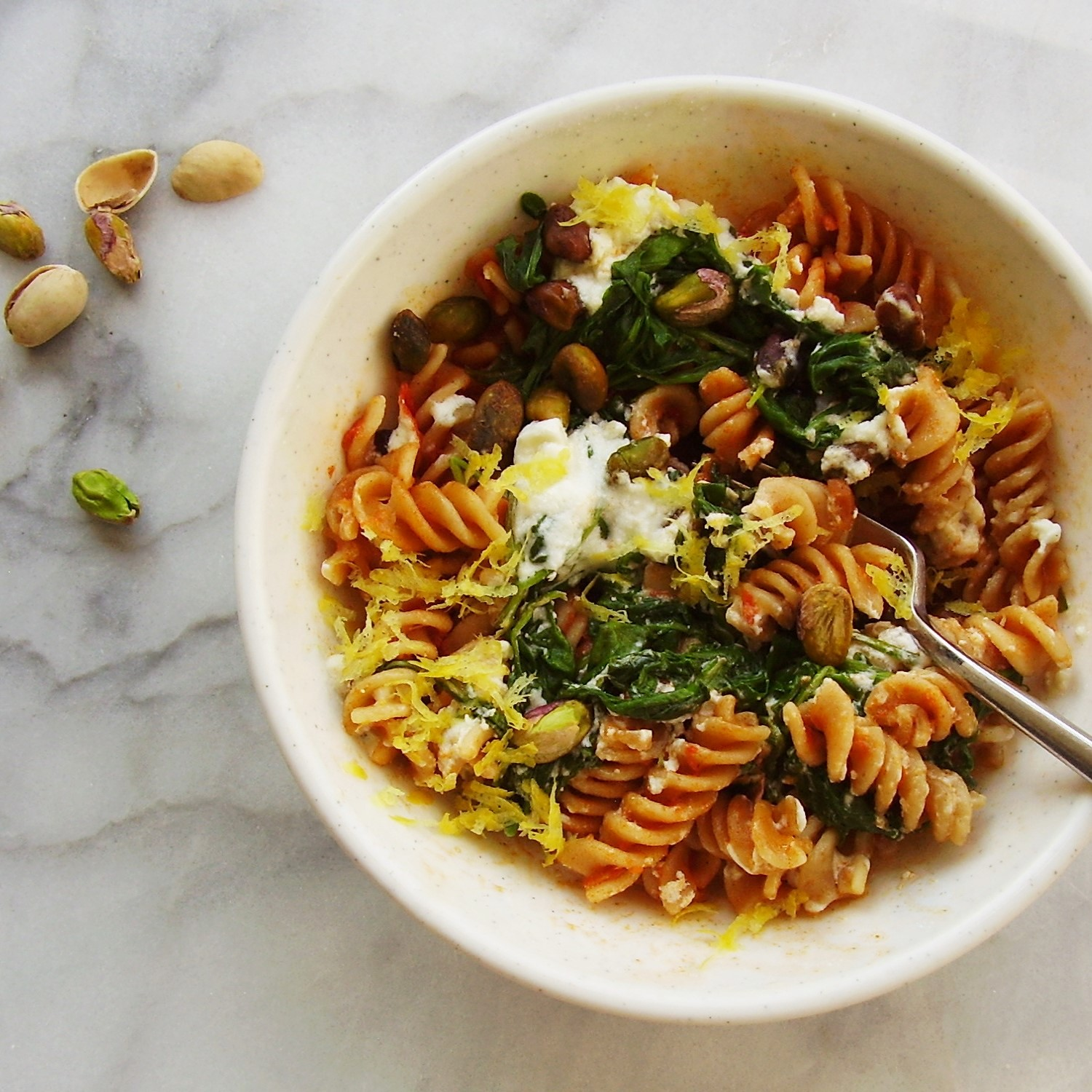 make-ahead fusilli pasta bowls