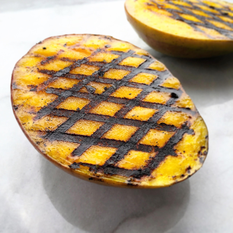 grilled mango cheeks