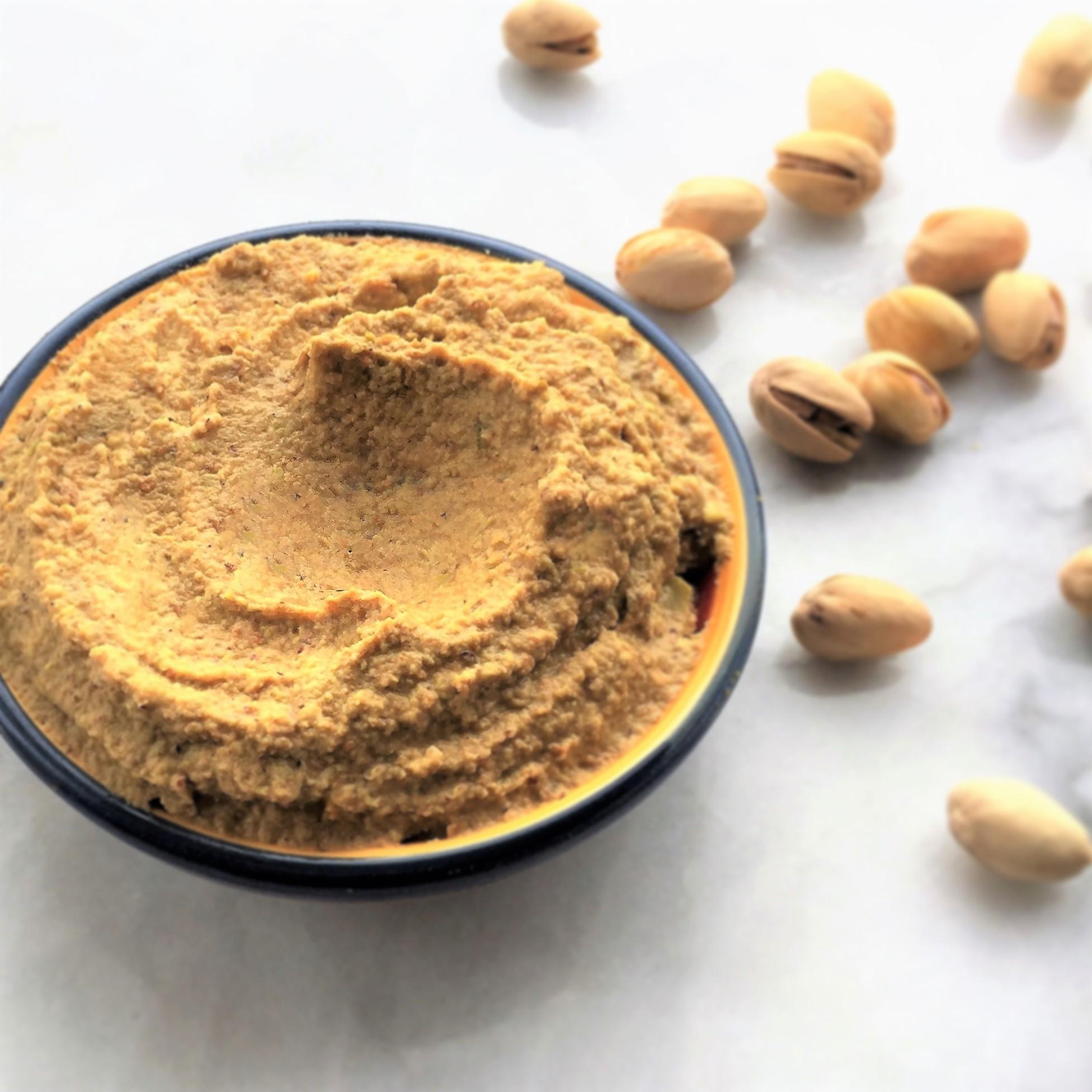poached pistachio puree