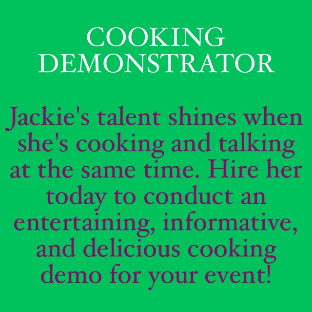 Cooking Demonstrator Image Quote