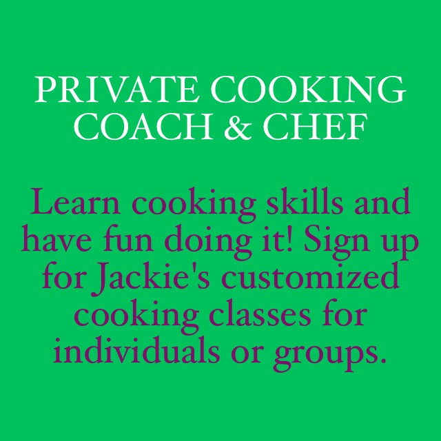 Private Cooking Coach & Chef Image Quote