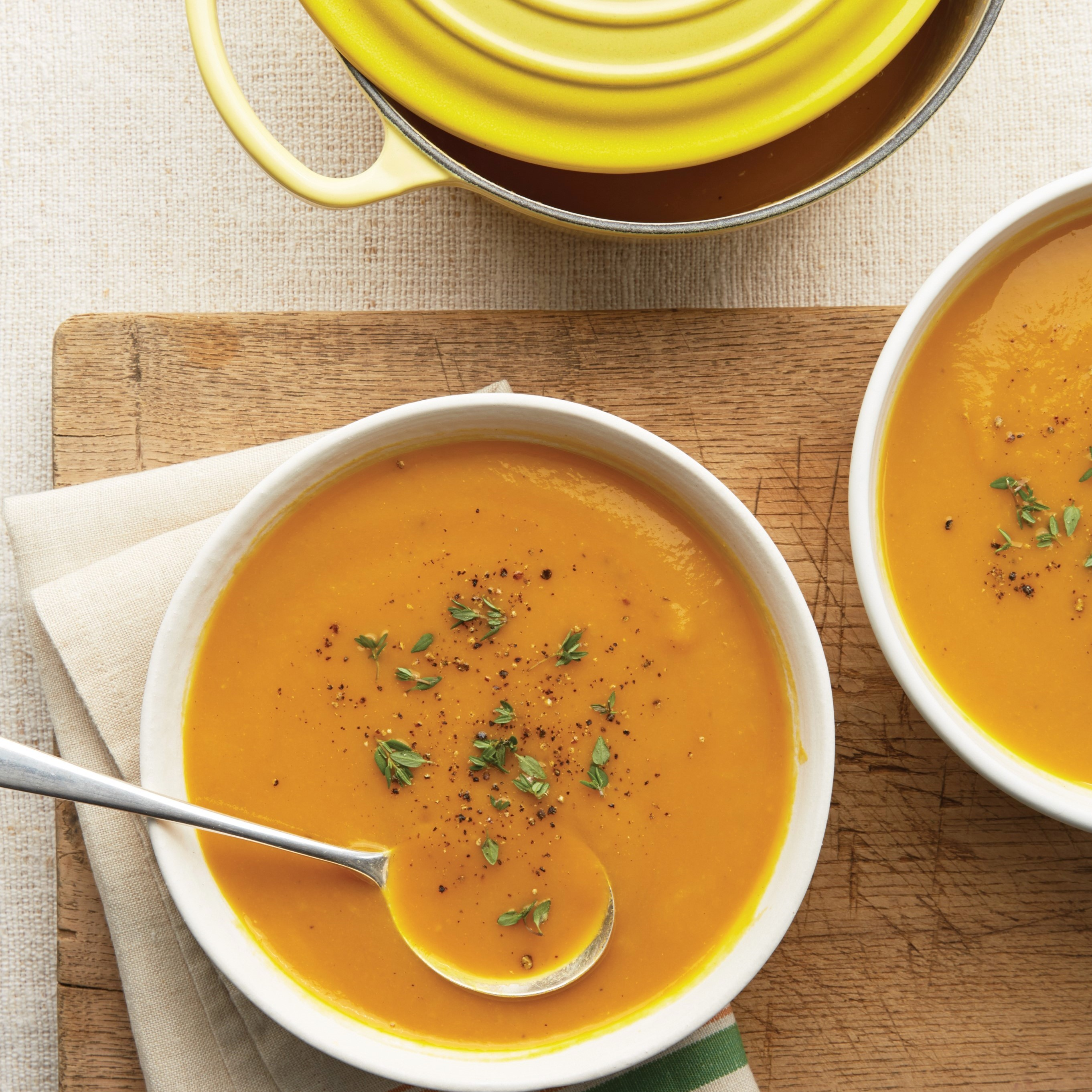 Roasted Orange Bell Pepper Soup