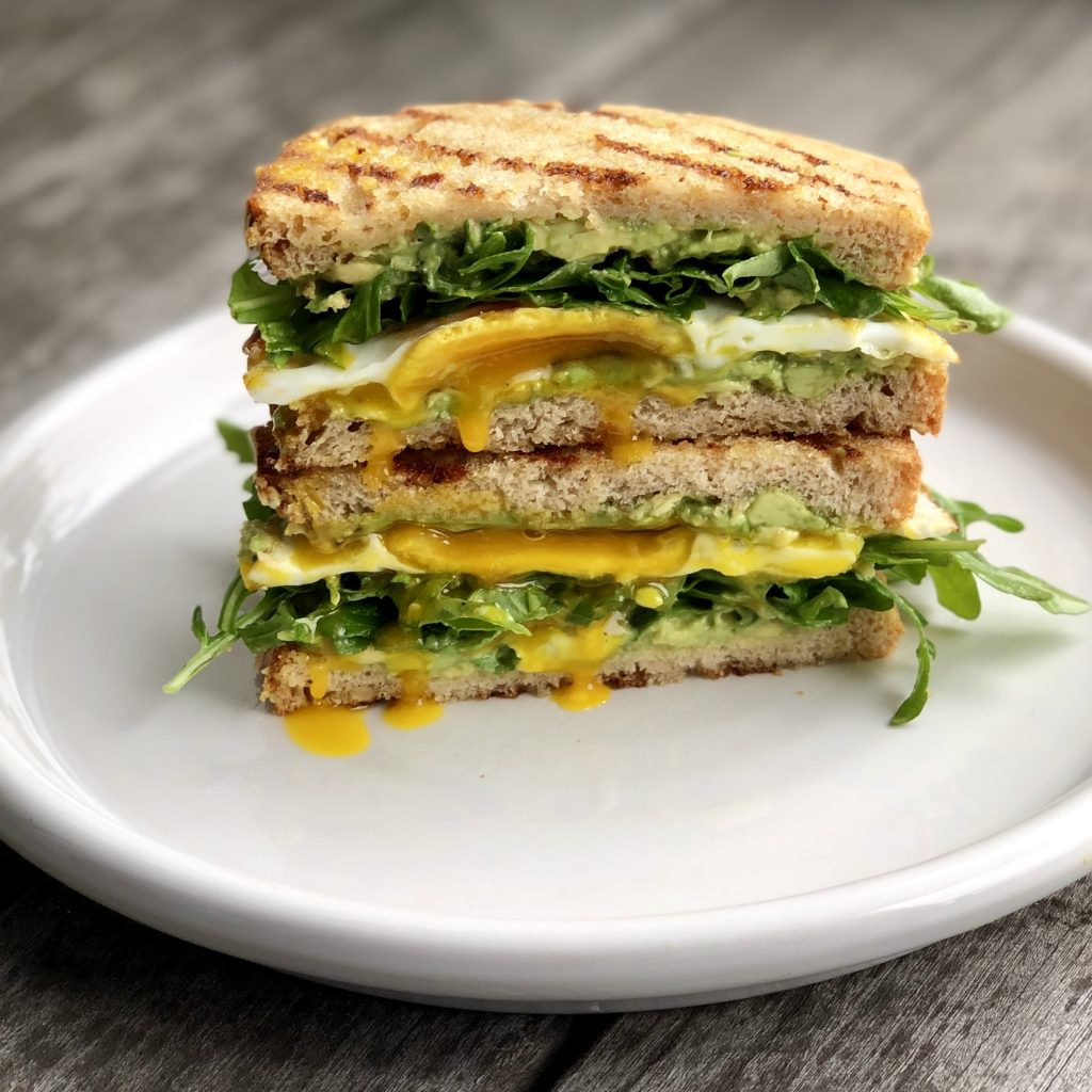 avocado toast & egg sandwich