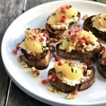 "cashew cheese bruschetta with pear-thyme ""compote"""