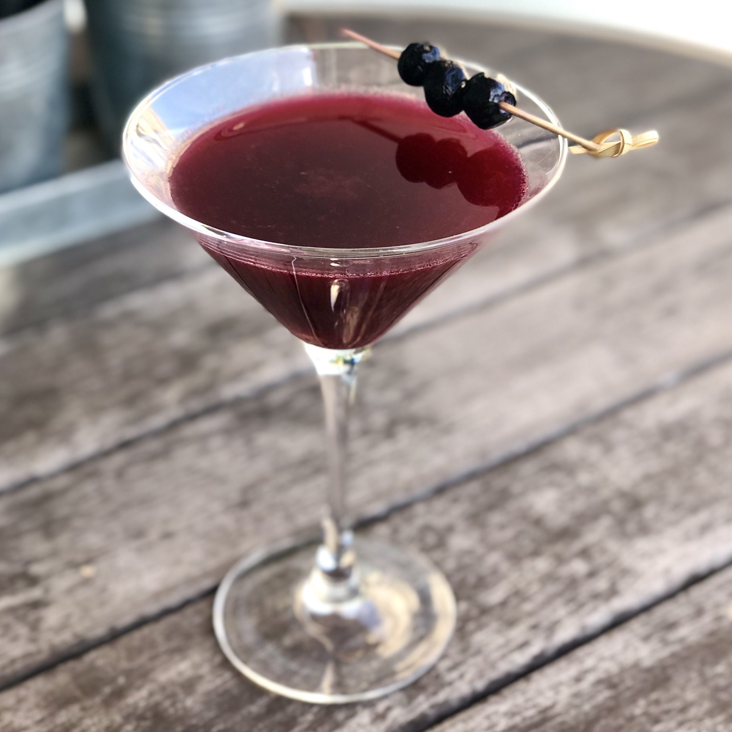 election day happy hour blueberry-ginger cocktail