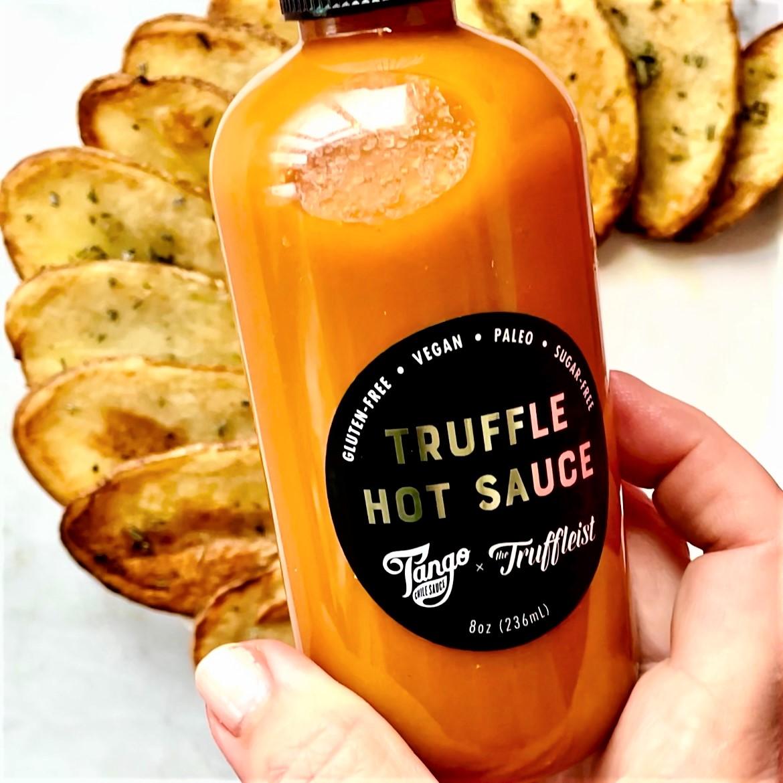 "rosemary roasted potato ""chips"" with truffle hot sauce"