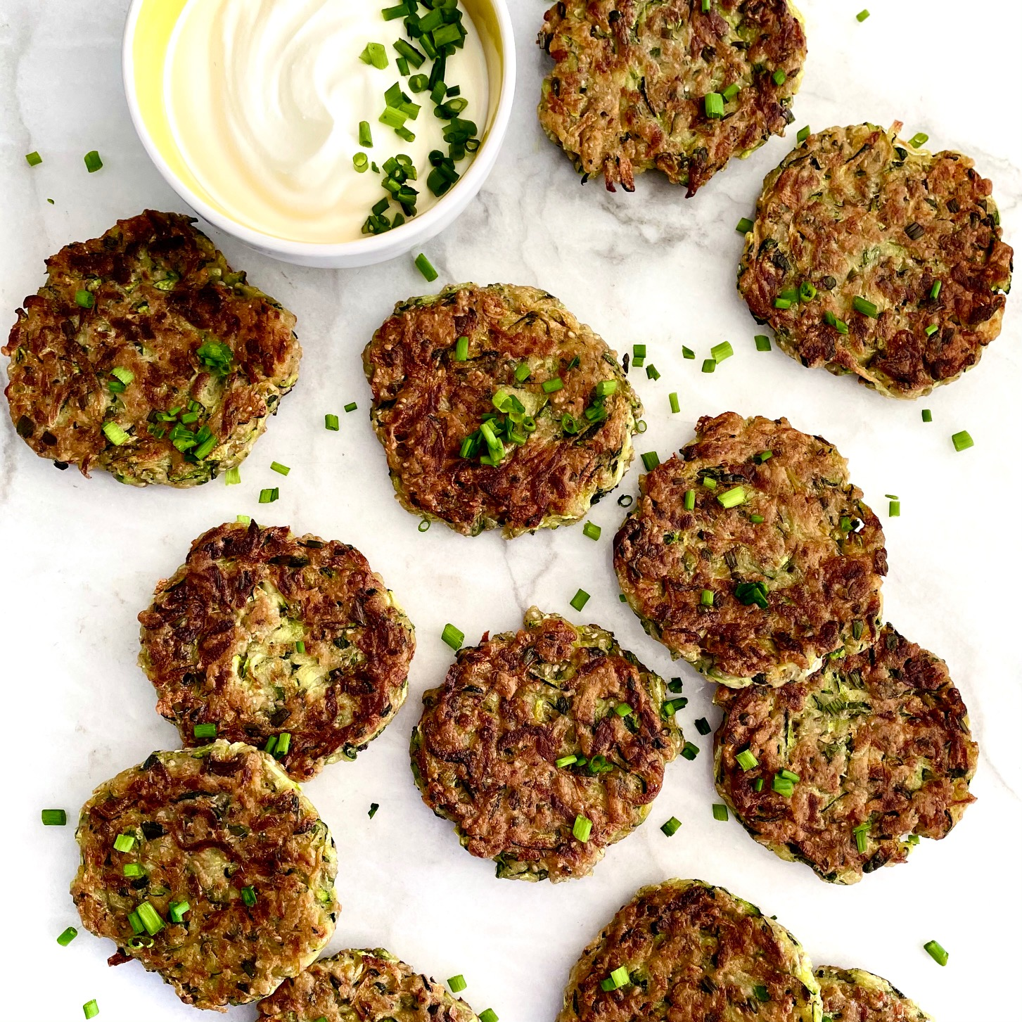 herbed zucchini fritters