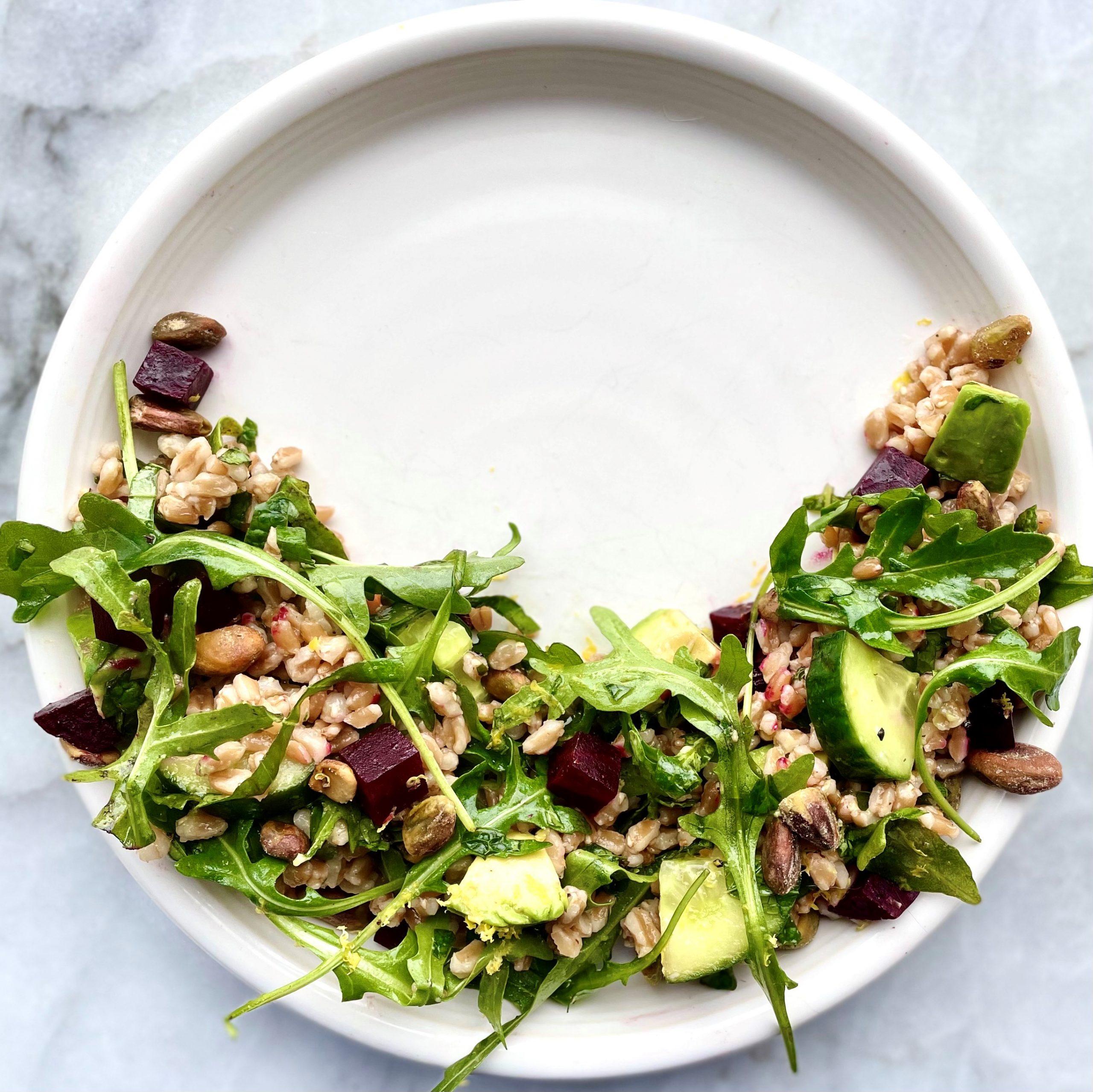 jasmine green tea grain & herb salad